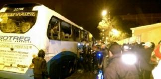 العيون: انهاء احتجاز حافلة من قبل مجموعة من الأشخاص