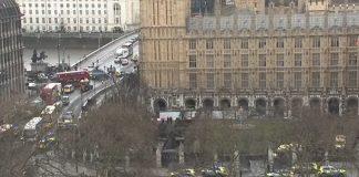 فيديو مكان الهجوم قرب مبنى البرلمان البريطاني
