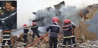 صورة الإطفائي الذي ضحى بحياته لأجل توقيف فاجعة حريق سلا اليوم