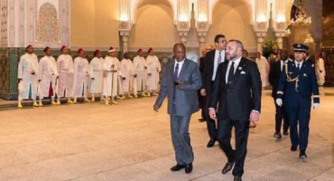 جلالة الملك يستقبل بالقصر الملكي بالدار البيضاء رئيس جمهورية غينيا