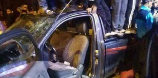 سائق بمراكش يدهس 6 مواطنين.. وغاضبون يكسرون السيارة
