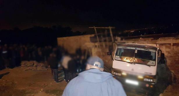 سرقة شاحنة محملة بالأغنام في البيضاء…والشرطة تحقق