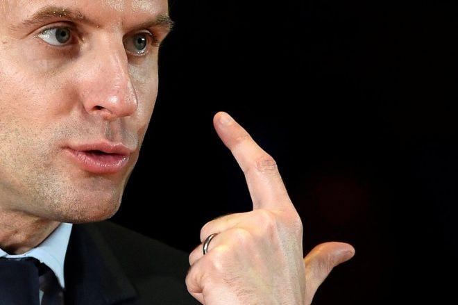 ماكرون: فرنسا لم تعلن الحرب على نظام الأسد