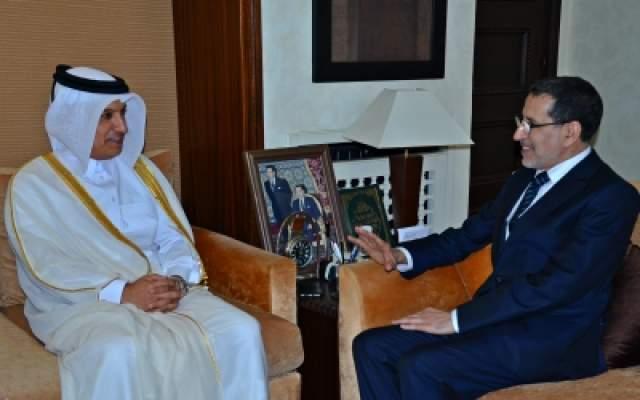 العثماني يلتقي بوزير المالية القطري ويتفقان على تعزيز دينامية التعاون