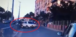 خطير.. تهور سائق طاكسي يتسبب في حادثة ويفر معرضا سلامة الناس للخطر