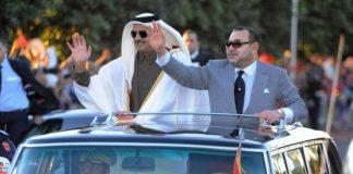 الملك محمد السادس يجري اتصالا هاتفيا بالشيخ تميم بن حمد آل ثاني أمير دولة قطر