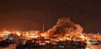 طائرات المحتل الصهيوني تقصف المقاومة في شمالي غزة