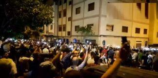 فيديو.. استمرار الاحتجاجات الليلية في الحسيمة