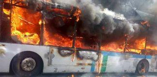 فيديو.. لحظة احتراق حافلة سطاريو بطريق بوقنادل القنيطرة عشية اليوم