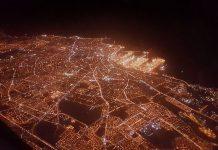 مدينة الدار البيضاء من فوق على الساعة 12 ليلا