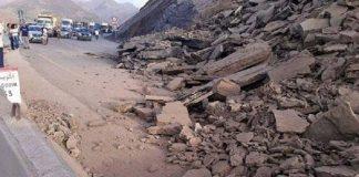 إعادة حركة السير بالطريق الوطنية رقم 9 عقب انهيار صخري كثيف بين تادارت وتيشكا