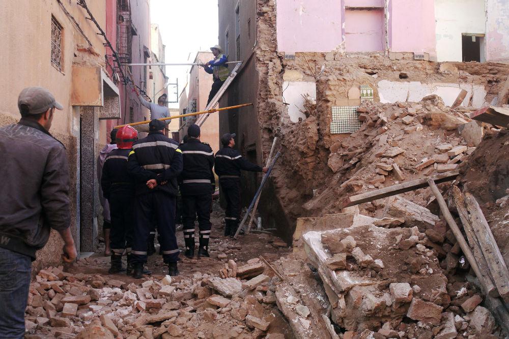 الدار البيضاء: الدعوة إلى الإخلاء الفوري لبناية انهار جزء من سقف إحدى غرفها