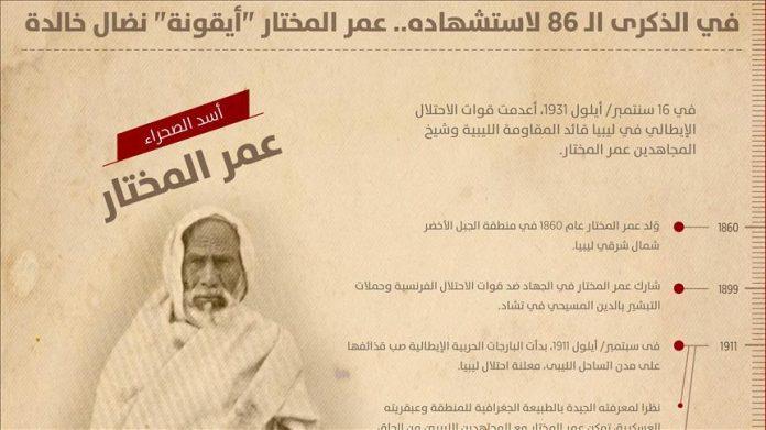 في الذكرى الـ 86 لاستشهاده.. عمر المختار