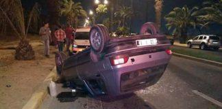 خنزير يتسبب في انقلاب سيارة في المحمدية