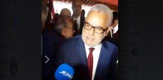 """فيديو.. حضور بنكيران لنشاط حزب الاستقلال و""""تمقليع"""" على صحافي هسبريس"""