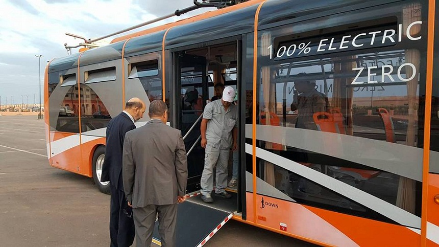 إعطاء الانطلاقة الرسمية للمرحلة الأولى للحافلات الكهربائية بمدينة مراكش
