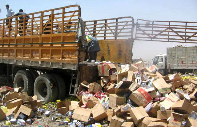 إتلاف حوالي 115 طنا من المواد الغذائية خلال الأسبوع الثالث من شهر رمضان
