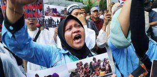تظاهرة منددة بالعنف ضد مسلمي الروهينغا بإندونيسيا