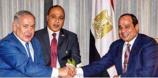 الصورة التي فضحت المستور.. لقاء قائد الانقلاب المصري بقائد الكيان الصهيوني