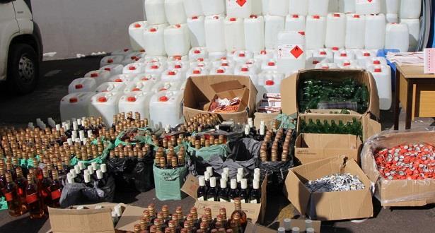 شرطة مولاي إدريس زرهون تفكك معملا سريا لإعداد الخمور