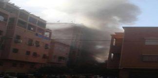 فيديو.. حريق مهول في محل للأفرشة بحي المسيرة بمراكش