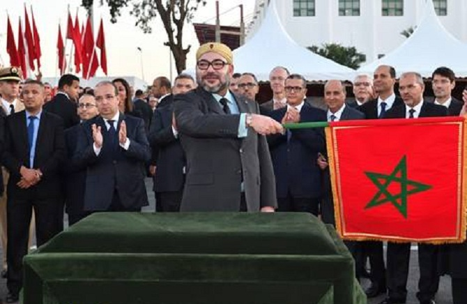 الملك محمد السادس يعطي انطلاقة مشروع تمديد الخط 2 لترامواي الرباط- سلا
