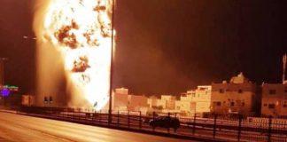 فيديو.. حريق أنبوب النفط البحريني