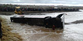 التحقيق مع سائق الحافلة التي غرقت بضواحي مراكش