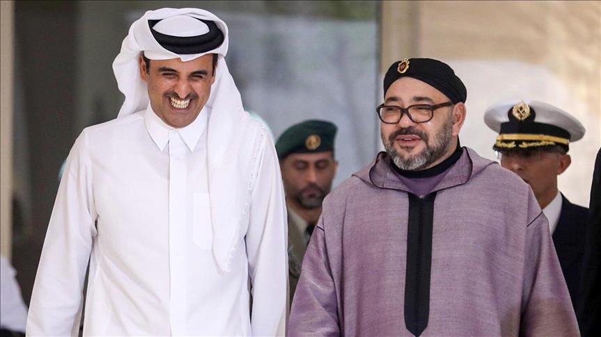 """الملك يعرب عن حرصه على """"تعزيز العلاقات"""" مع قطر"""