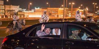 """""""كاسر الحصار"""" قطريون يحتفون بزيارة ملك المغرب"""