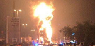 """بالفيديو.. البحرين تقول إن حريق أنبوب النفط نجم عن """"عمل إرهابي"""""""