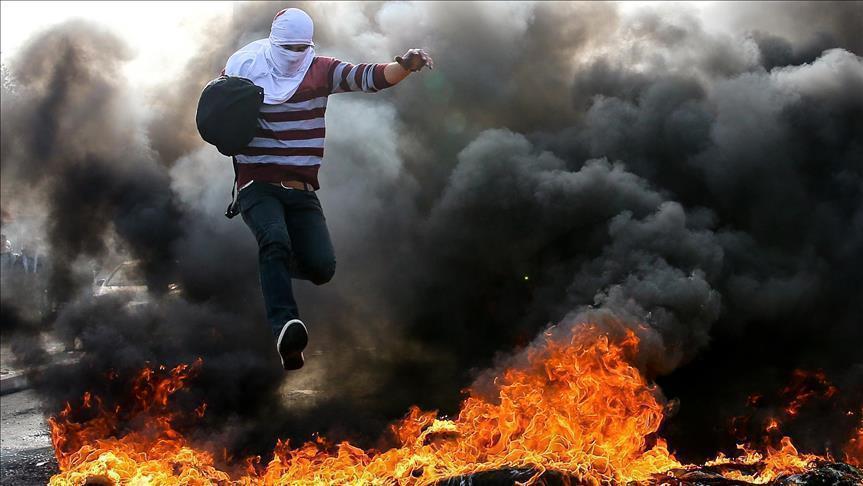 إصابة 55 فلسطينيا في مواجهات مع الجيش الصهيوني بالضفة