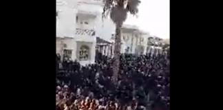 فيديو.. مسيرة ضخمة تجوب شوارع جرادة، شعارها: الشعب يريد ناصر الزفزافي!