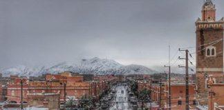 صور جميلة للتساقطات الثلجية بمدينة أكدز