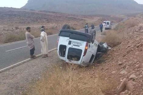 إصابة قائد ومسؤول سياحي في حادثة ناحية زاكورة