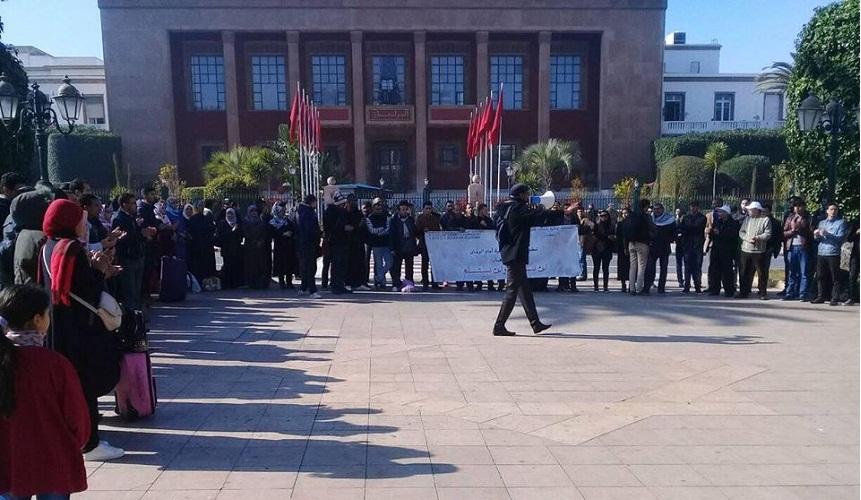 لجنة دعم حراك الريف تنخرط في اعتصام الأساتذة المتعاقدين