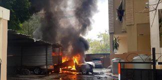فيديو.. استهداف القيادي في حركة حماس بانفجار سيارة بمدينة صيدا في جنوب لبنان