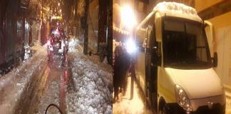 جمعويو إنجاز السلوية تحاصرهم الثلوج بالريش بعد إيصالهم لمساعدات إلى كلميمة، ونداء مستعجل لفك حصارهم