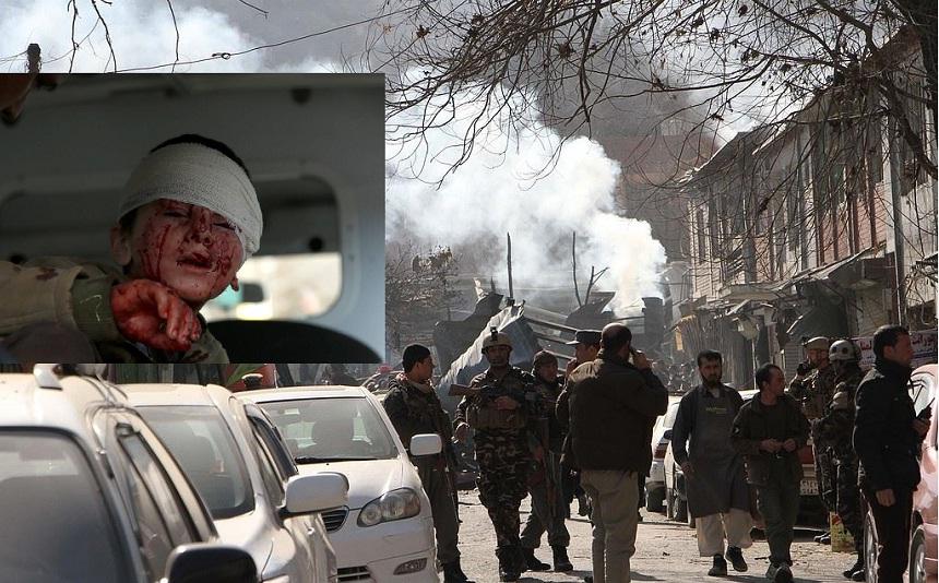 بالفيديو.. 97 قتيلا و200 مصاب بتفجير كابل وطالبان تتبناه