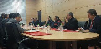 الوزير الرباح يلتقي بممثلين عن ساكنة مدينة جرادة بمقر عمالة المدينة