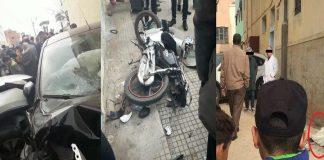 بعد سرقة هاتفها النقال.. شابة تدهس اللصين بسيارتها وهما يمتطيان دراجتهما النارية