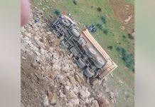 فيديو.. انقلاب شاحنة في تروال نواحي مدينة وزان