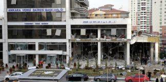 """تركيا تؤكد تورط """"ب ي د"""" الإرهابي في تفجير مبنى الضرائب بأنقرة"""