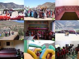 بالصور.. منتدى الشروق يدخل الفرحة على 60 أسرة بقرية إمين رخا بجبال الأطلس الكبير وينشئ مشاريع تعليمية قيمة