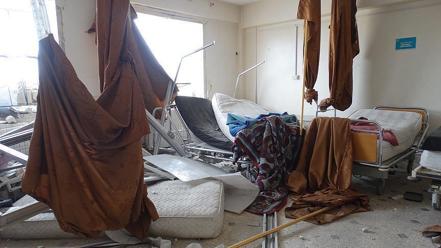 النظام السوري يقصف بالبراميل مشفى في إدلب
