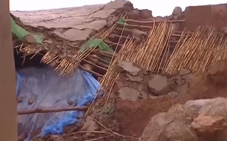 فيديو.. أسر بلا مأوى بعد انهيار منازلها بسبب الثلوج بمنطقة الريش
