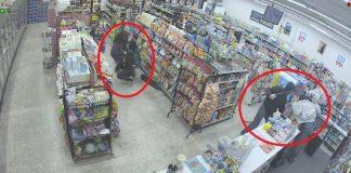 فيديو.. لصوص أنقذوا المحل من لص آخر مسلّح