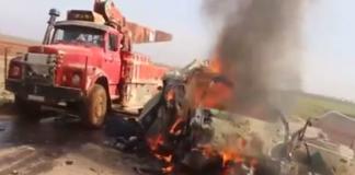 بالفيديو.. قتلى بإدلب واتهام للنظام السوري بقصف سراقب بالكلور