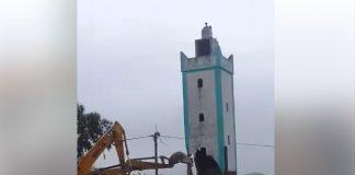 فيديو.. تذمر الساكنة من هدم مسجد دوار عريب بالمكانسة لأجل إقامة مخيم محلي!!