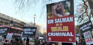 لندن.. مظاهرة ضد زيارة ولي العهد السعودي لبريطانيا